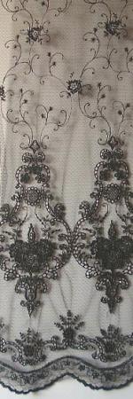 robe tissu polyamide brodé lurex noir HAB2259757 coloris 363