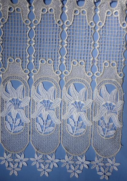 Brise bise macram sur mesure marie 15 rideau voilage voildieu - Rideaux brise bise macrame ...